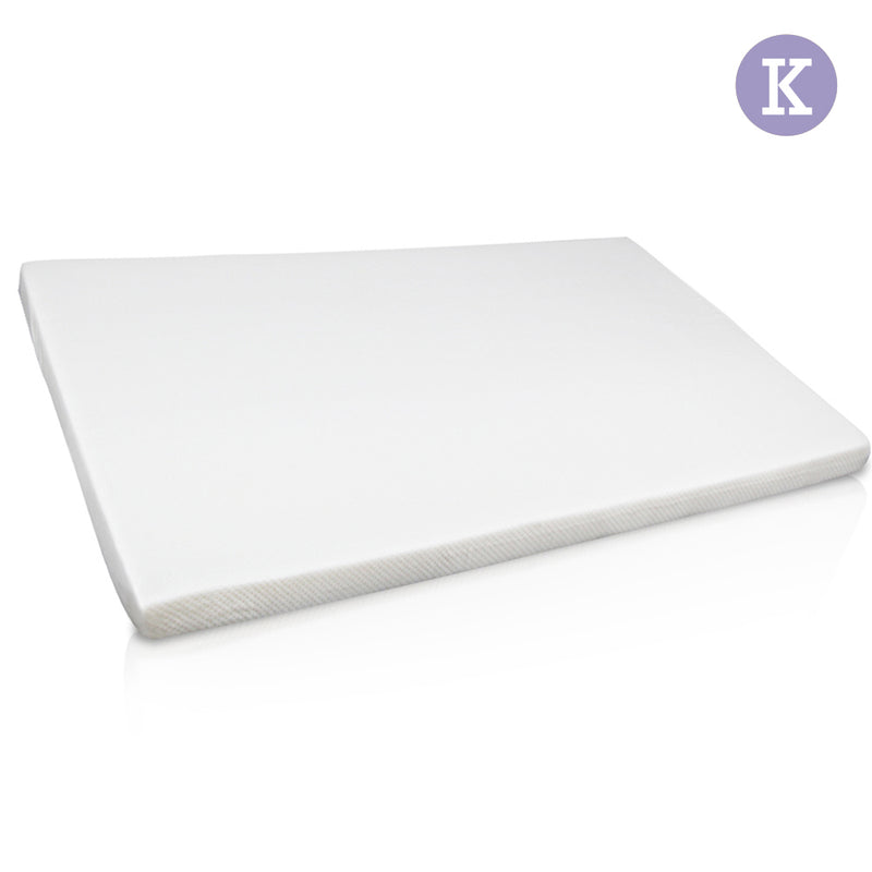Visco Elastic Memory Foam Mattress Topper 7cm King