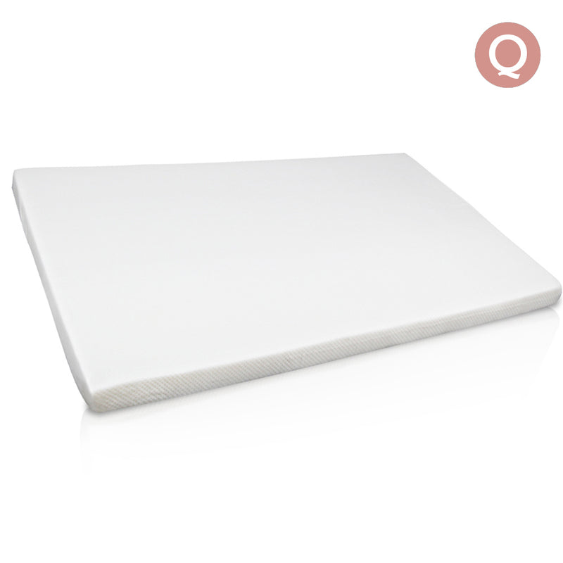 Visco Elastic Memory Foam Mattress Topper 7cm Queen