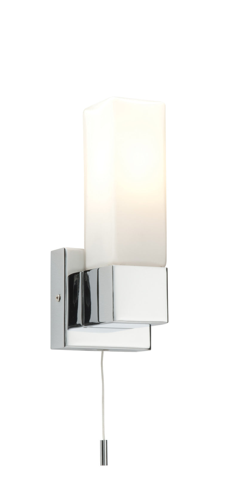 Square Single Wall Light - bathroomlightsdirect