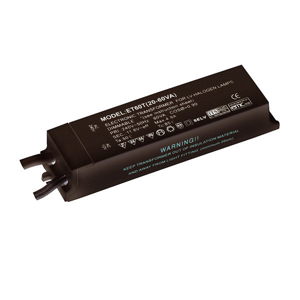 Dimmable 12V 60W Transformer - bathroomlightsdirect