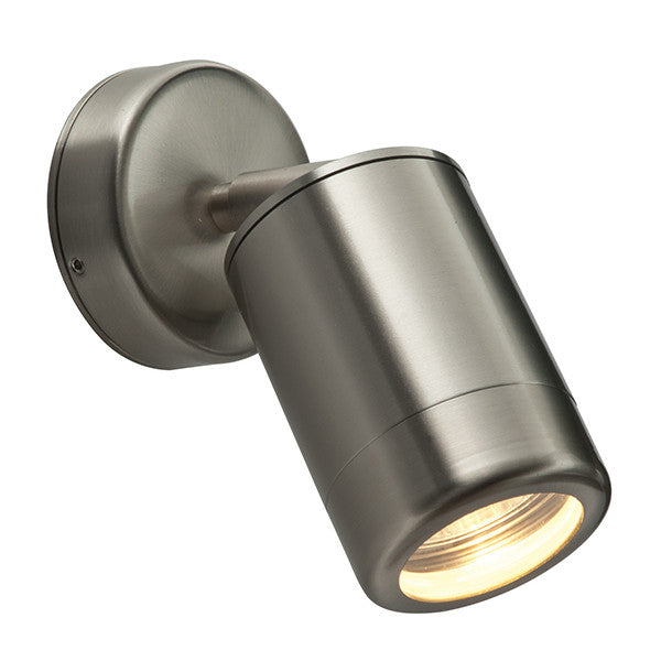 Odyssey Stainless Steel Spot Wall Light - bathroomlightsdirect