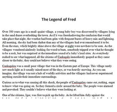 The Legend of Fred