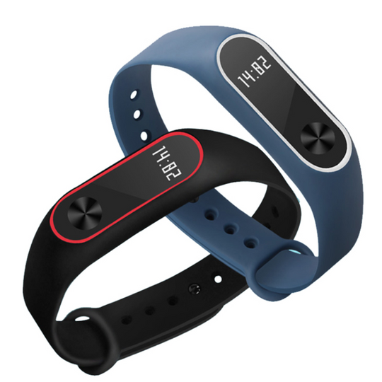 Mi Band 2 Replacement Straps (2 Pieces Combo)