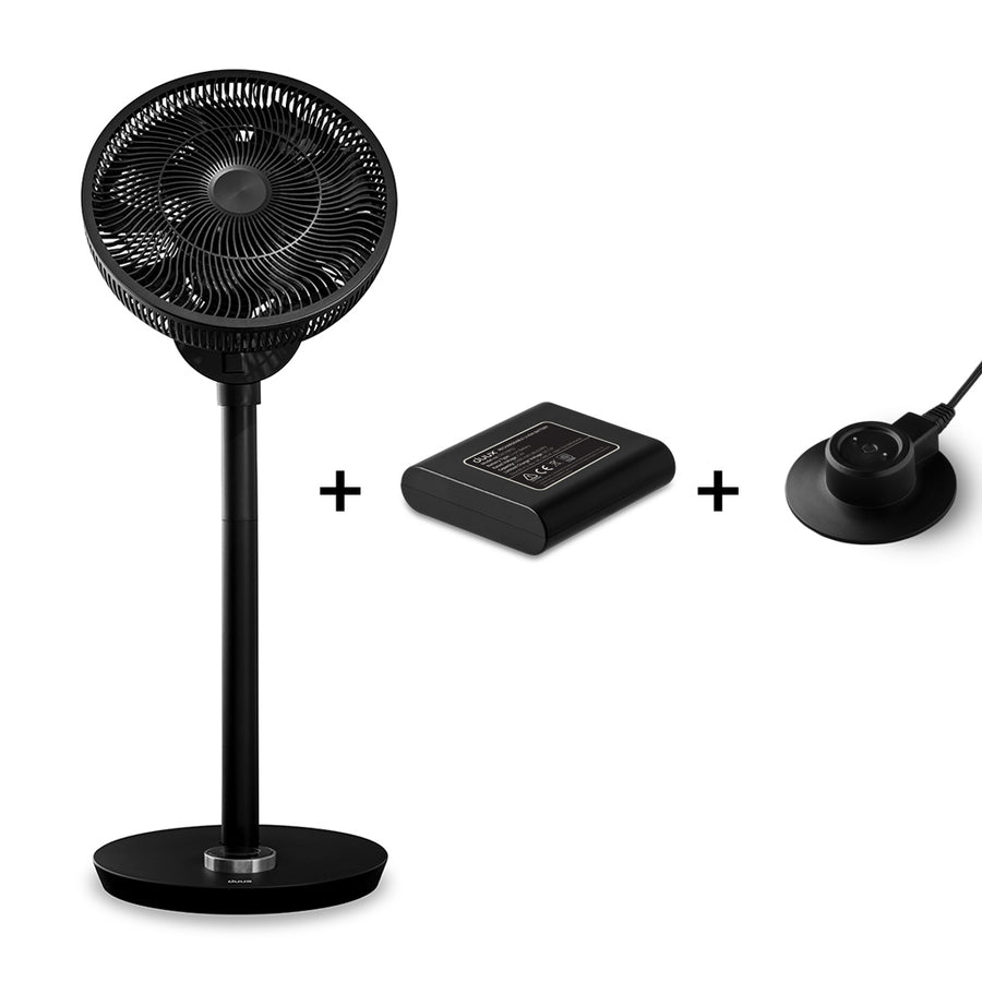 Whisper Flex Smart Fan Black incl. Battery Pack - Black