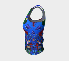 Lovescapes Fitted Tank Top (Little Meadow) - Lovescapes Art