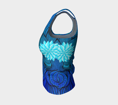 Lovescapes Fitted Tank Top (Bluebird Serenade 01) - Lovescapes Art