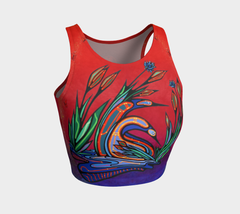 Lovescapes Athletic Crop Top (Loons in Love 02) - Lovescapes Art