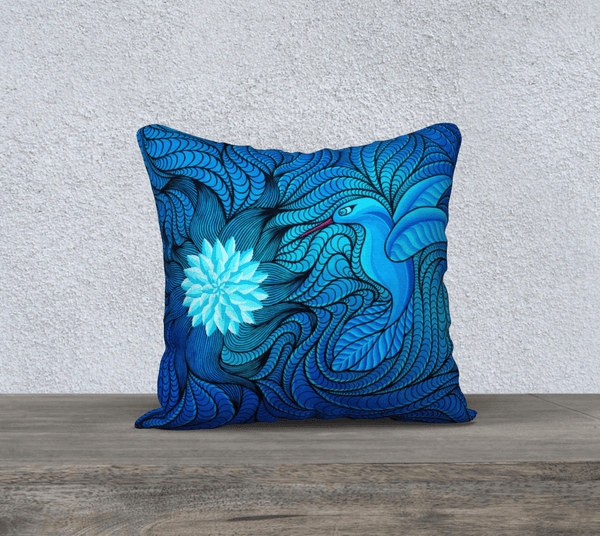 "Lovescapes Pillow 18"" x 18"" (Bluebird Serenade) - Lovescapes Art"
