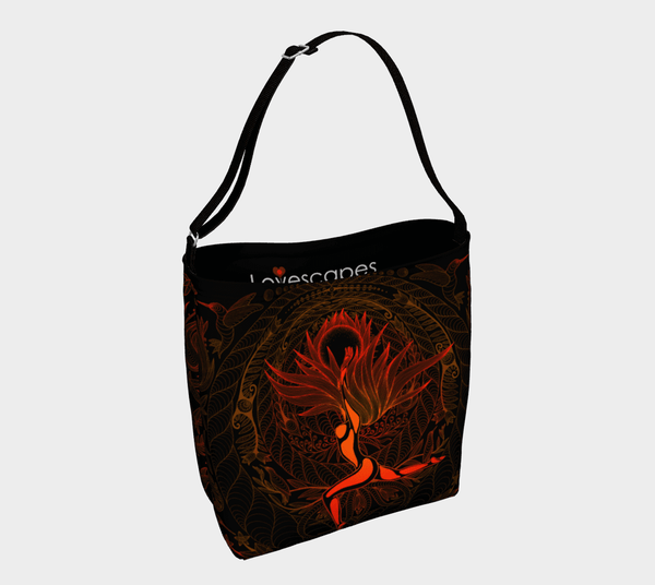 Lovescapes Gym Bag (moonlight Melodies - Fire) - Lovescapes Art