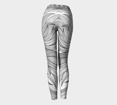 Lovescapes Yoga Leggings (Goddess B&W) - Lovescapes Art