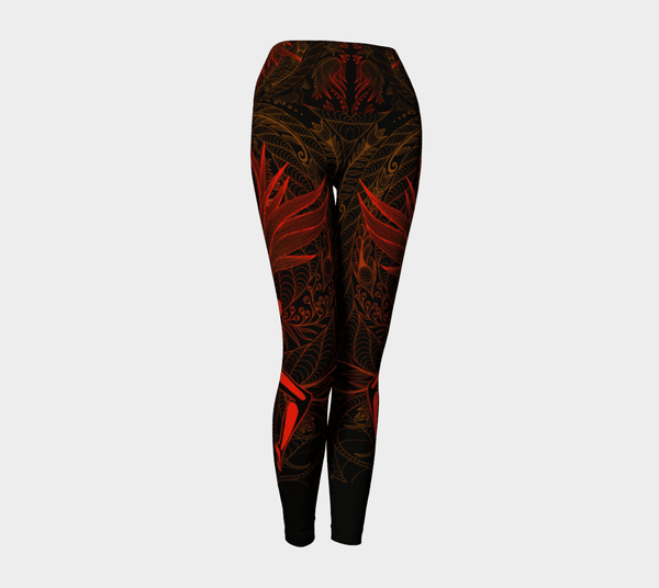 Lovescapes Yoga Leggings (Moonlight Melodies - Fire) - Lovescapes Art