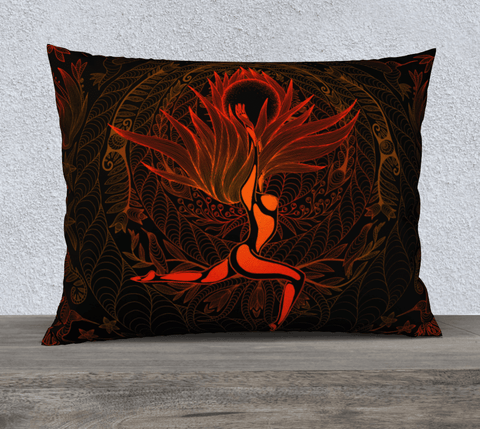"26""x20"" Pillow Case (Moonlight Melodies - Fire) - Lovescapes Art"