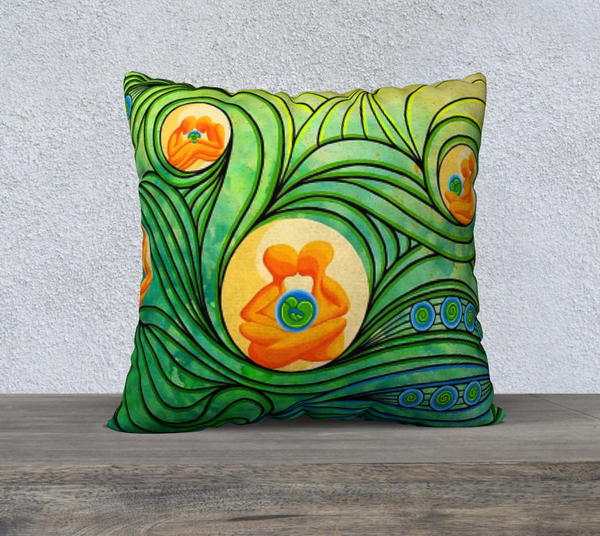 "Lovescapes Pillow 22"" x 22"" (Love Bubbles; Becoming One 03) - Lovescapes Art"