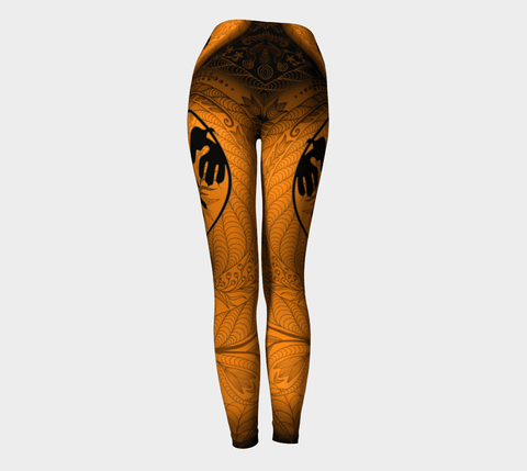 Lovescapes Yoga Leggings (Maytime Melodies;Thunderbird) - Lovescapes Art