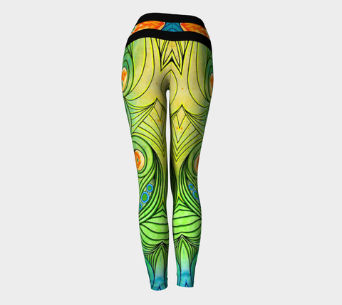 Lovescapes Yoga Leggings (Love Bubbles, Becoming One 01) - Lovescapes Art