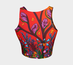 Lovescapes Athletic Crop Top (Eternal Summertime) - Lovescapes Art