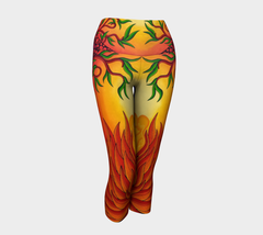 Lovescapes Yoga Capris (Love in Bloom 01) - Lovescapes Art