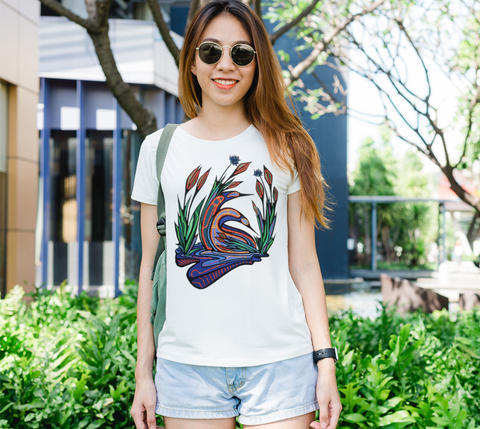 Lovescapes Lady's Tee (Loons in Love 01)