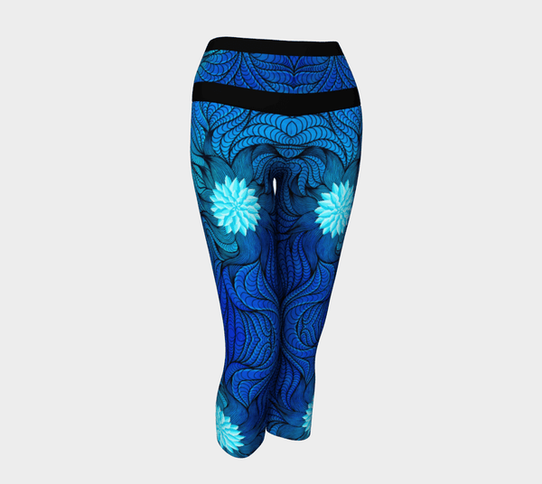 Lovescapes Yoga Capris (Bluebird Serenade) - Lovescapes Art