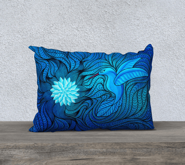 "Lovescapes Pillow 20"" x 14"" (Bluebird Serenade) - Lovescapes Art"