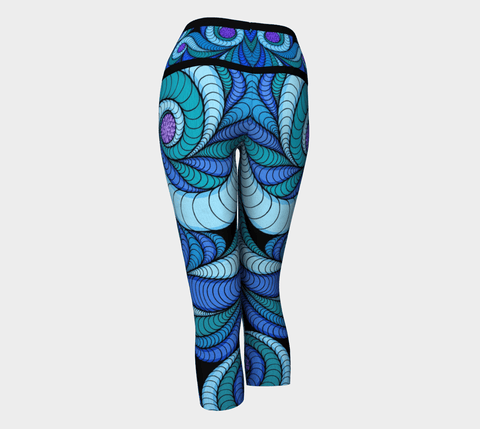 Lovescapes Yoga Capris (Higher Vibrations) - Lovescapes Art