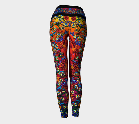 Lovescapes Yoga Leggings (The Gates of Eden 01) - Lovescapes Art