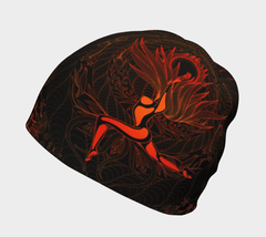 Lovescapes Beanie (Moonlight Melodies - Fire) - Lovescapes Art