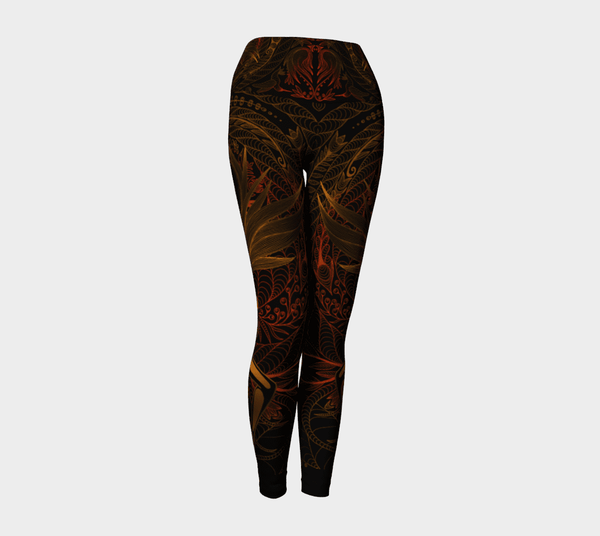 Lovescapes Yoga Leggings (Moonlight Melodies - Love) - Lovescapes Art