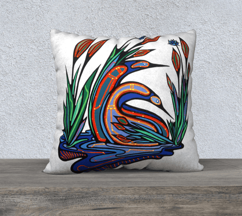 "Lovescapes Pillow 22""x22"" (Loons in Love) - Lovescapes Art"