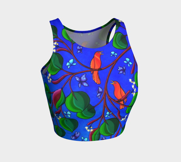 Lovescapes Athletic Crop Top (Little Meadow 01) - Lovescapes Art