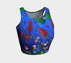 Lovescapes Athletic Crop Top (Little Meadow 02) - Lovescapes Art