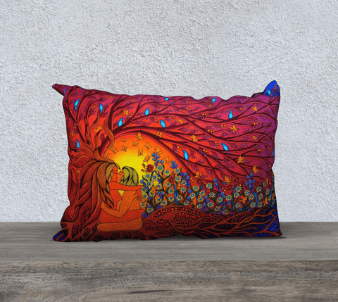"Lovescapes Pillow 20""x14"" (The Gates of Eden) - Lovescapes Art"