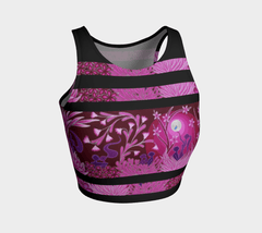 Lovescapes Athletic Crop Top (Love Garden 02) - Lovescapes Art