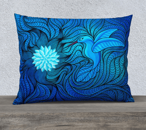 "Lovescapes Pillow 26"" x 20"" (Bluebird Serenade) - Lovescapes Art"