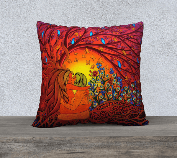 "Lovescapes Pillow 22""x22"" (The Gates of Eden)"