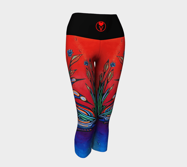 Lovescapes Yoga Capris (Loons in Love 03) - Lovescapes Art