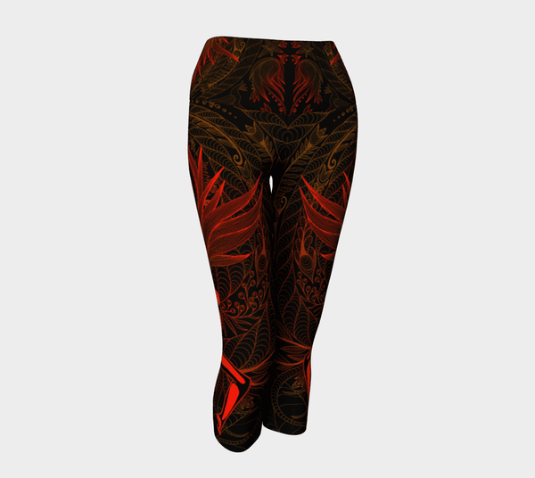 Lovescapes Yoga Capris (Moonlight Melodies - Fire) - Lovescapes Art