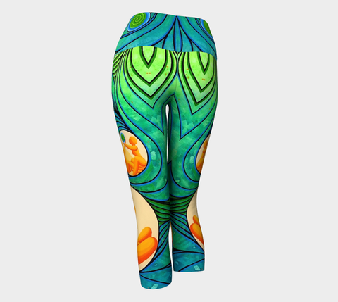 Lovescapes Yoga Capris (Love Bubbles, Becoming One)