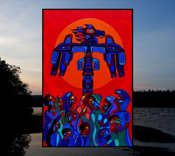 Totemic Spirit of the Kingfisher - Signed Art Print by Ritchie Sinclair