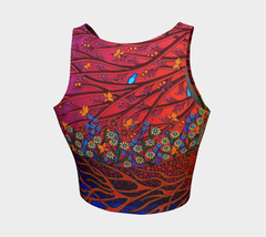 Lovescapes Athletic Crop Top (The Gates of Eden) - Lovescapes Art