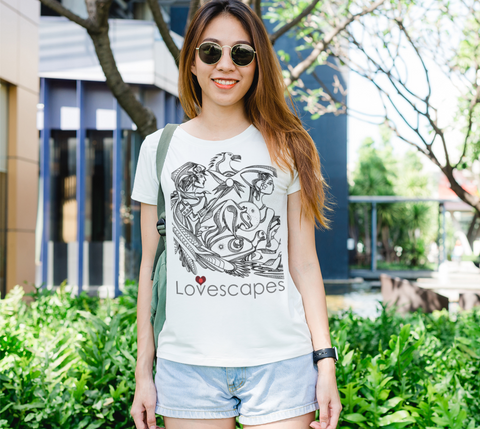 Lovescapes Lady's Tee (In Spirit We are Already There! 02)