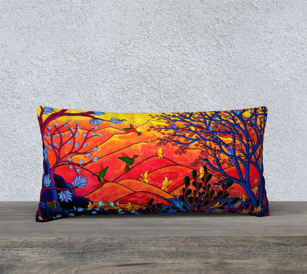 "Lovescapes Pillow 24"" x 12"" (Heartlands) - Lovescapes Art"