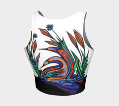 Lovescapes Athletic Crop Top (Loons in Love) - Lovescapes Art