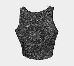 Lovescapes Athletic Crop Top (Womandala 01) - Lovescapes Art