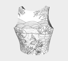 Lovescapes Athletic Crop Top (Over & Under 01) - Lovescapes Art