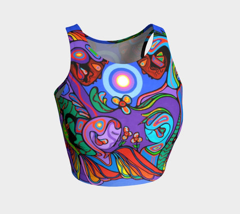 Lovescapes Athletic Crop Top (The Nature of Spirit) - Lovescapes Art