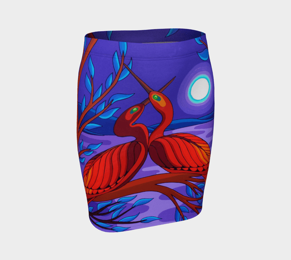 Lovescapes Fitted Skirt (Twin Flames 01) - Lovescapes Art