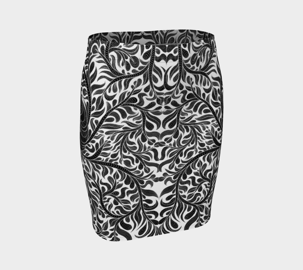 Lovescapes Fitted Skirt (Womandala 01) - Lovescapes Art