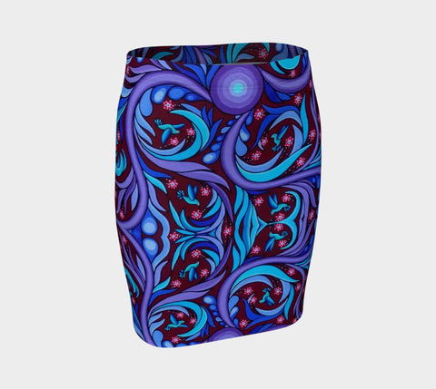Lovescapes Fitted Skirt (Wirl-Wind Sonnet) - Lovescapes Art