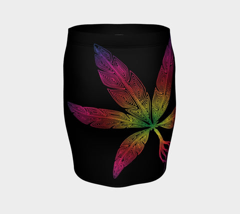 Lovescapes Fitted Skirt (Angel Feathers 02) - Lovescapes Art